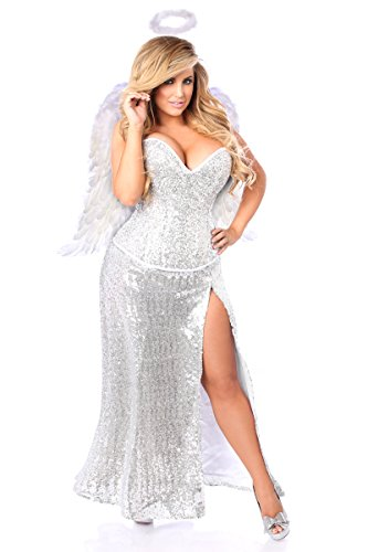 Daisy Corsets Women's Top Drawer Premium Sequin Angel Corset Costume