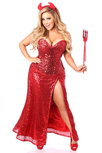 Daisy Corsets Women's Top Drawer Premium Sequin Devil Costume