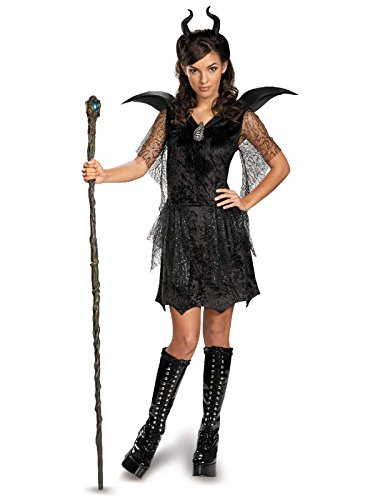 Disguise Disney Maleficent Movie Black Gown Tween Deluxe Costume