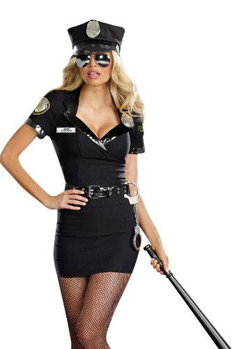 Dreamgirl Women's Dirty Cop Officer Anita Bribe Costume