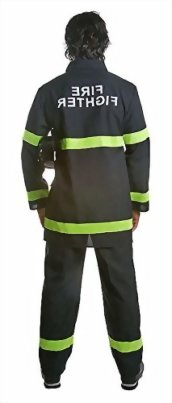 Dress-Up-America-Adult-Black-Fire-Fighter-0-0