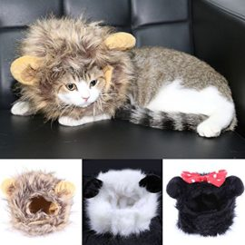 FAMI-Pet-Wig-with-Ears-for-Dogs-or-Cats-Christmas-Costumes-Festival-Party-Clothes-Fancy-Dress-Up-Optional-of-Three-Color-Mickey-Lion-Mane-Panda-0-2
