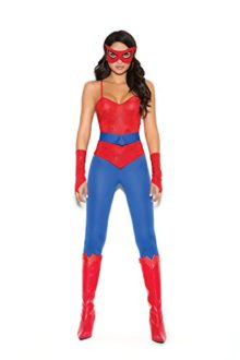 Female-Spider-Super-Hero-Halloween-Roleplay-Costume-5pc-Set-0