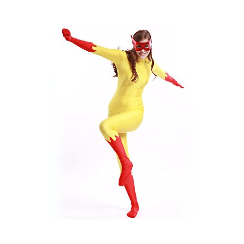 firestar costume yellow and red marvel cosplay comics firestar tight
