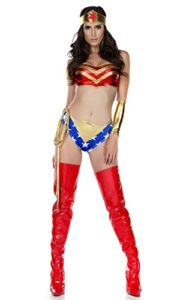 Forplay-Womens-5-Piece-Hero-Costume-Bandeau-Hdbnd-Shorts-Wristlets-Lasso-0-1