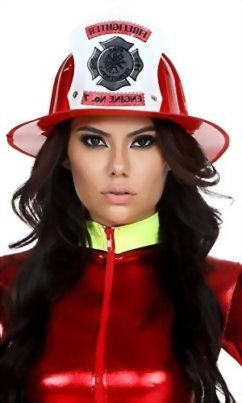 Forplay-Womens-Fireman-Hat-with-Sticker-Applique-0