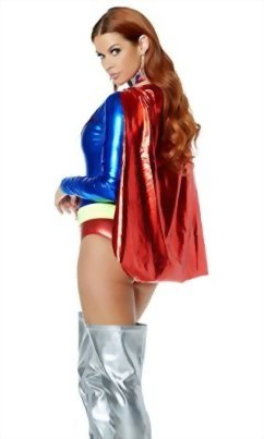 Forplay-Womens-Two-Tone-Metallic-Hero-Bodysuit-with-Attached-Cape-0-1