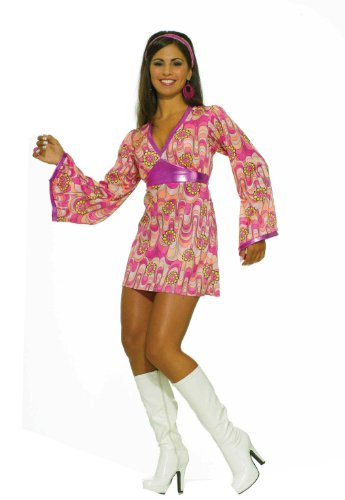 Forum 60S Revolution Go-Go Flower Power Dress Costume