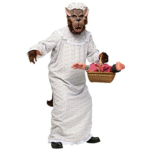 Fun-World-Mens-Big-Bad-Granny-Wolf-Halloween-Party-Costume-Set-0