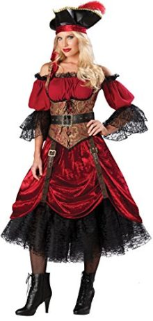 GTH-Womens-Buccaneer-Caribbean-Pirate-Swashbucklin-Scarlet-Costume-0