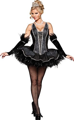 GTH-Womens-Seductive-Swan-Black-Velvet-Adults-Halloween-Themed-Costume-0