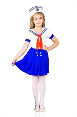 Girls-Sea-Sweetie-Sailor-Navy-Ship-Mate-Dress-Up-Role-Play-Halloween-Costume-0