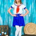 Girls-Sea-Sweetie-Sailor-Navy-Ship-Mate-Dress-Up-Role-Play-Halloween-Costume-0-4