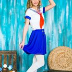 Girls-Sea-Sweetie-Sailor-Navy-Ship-Mate-Dress-Up-Role-Play-Halloween-Costume-0-5