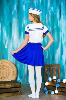 Girls-Sea-Sweetie-Sailor-Navy-Ship-Mate-Dress-Up-Role-Play-Halloween-Costume-0-6