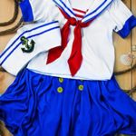 Girls-Sea-Sweetie-Sailor-Navy-Ship-Mate-Dress-Up-Role-Play-Halloween-Costume-0-7