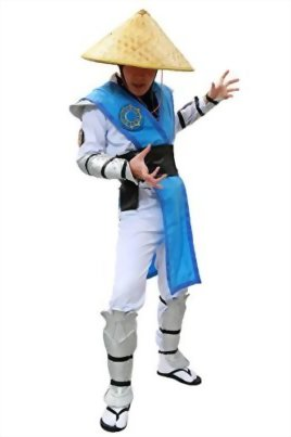 Halloween-MKX-Raiden-Cosplay-Costume-with-Hat-Outfit-Suit-for-Men-0-0