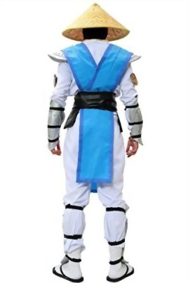 Halloween-MKX-Raiden-Cosplay-Costume-with-Hat-Outfit-Suit-for-Men-0-1