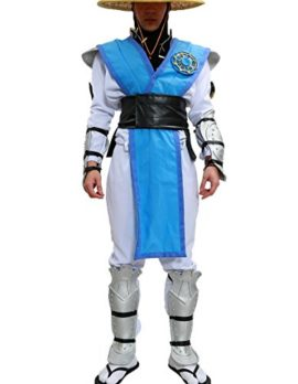 Halloween-MKX-Raiden-Cosplay-Costume-with-Hat-Outfit-Suit-for-Men-0