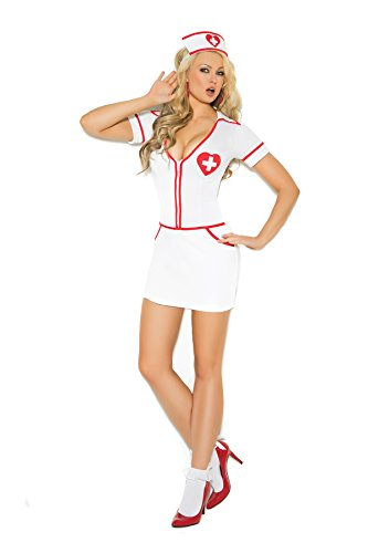 Heart On Hottie Mini Dress and Head Piece 2pc Set Halloween Costume
