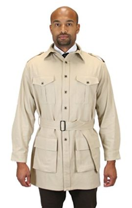 Historical-Emporium-Mens-100-Cotton-Canvas-Safari-Bush-Jacket-0-0