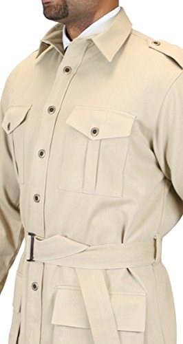 Historical-Emporium-Mens-100-Cotton-Canvas-Safari-Bush-Jacket-0-1