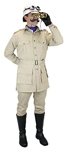 Historical Emporium Men's 100% Cotton Canvas Safari Bush Jacket
