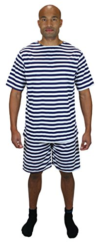 Historical Emporium Men's 1900s Striped Bathing Suit