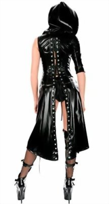 IGIG-Womens-Faux-Leather-Lace-up-Catsuit-Hooded-Cape-Cloak-Costume-0-1