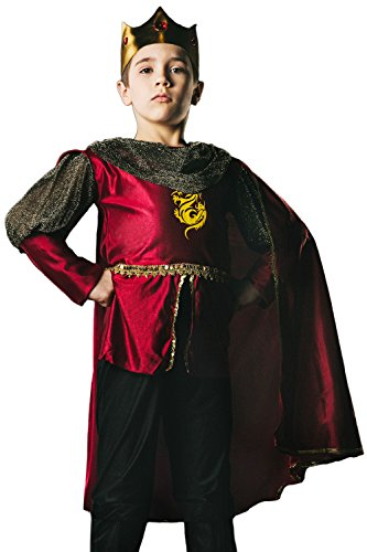 Kids-Boys-King-Arthur-Halloween-Costume-Medieval-Prince-Dress-Up-Role-Play-0