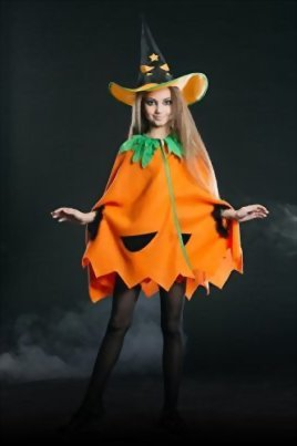 Kids-Juniors-Girls-Cute-Pumpkin-Halloween-Costume-Vegetable-Dress-Up-Role-Play-0-0