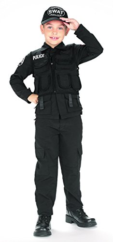 Kids-SWAT-Police-Outfit-Halloween-Costume-Large-0