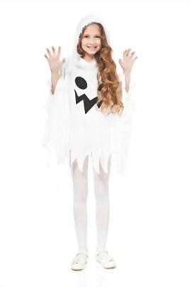 Kids-Unisex-Ghost-Ghostly-Spirit-Poltergeist-Dress-Up-Role-Play-Halloween-Costume-0-0