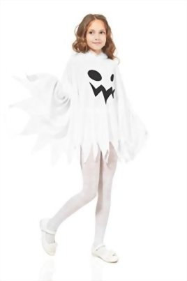 Kids-Unisex-Ghost-Ghostly-Spirit-Poltergeist-Dress-Up-Role-Play-Halloween-Costume-0-1