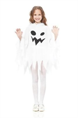 Kids-Unisex-Ghost-Ghostly-Spirit-Poltergeist-Dress-Up-Role-Play-Halloween-Costume-0