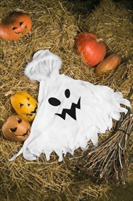 Kids-Unisex-Ghost-Ghostly-Spirit-Poltergeist-Dress-Up-Role-Play-Halloween-Costume-0-3