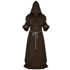 LETSQK-Mens-Friar-Medieval-Hooded-Monk-Priest-Robe-Tunic-Halloween-Cosplay-Costume-0-0