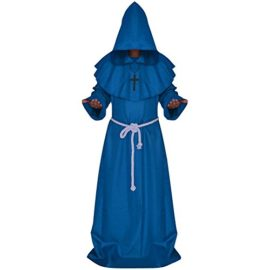 LETSQK-Mens-Friar-Medieval-Hooded-Monk-Priest-Robe-Tunic-Halloween-Cosplay-Costume-0-1