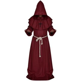 LETSQK-Mens-Friar-Medieval-Hooded-Monk-Priest-Robe-Tunic-Halloween-Cosplay-Costume-0-2