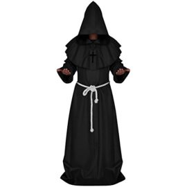 LETSQK-Mens-Friar-Medieval-Hooded-Monk-Priest-Robe-Tunic-Halloween-Cosplay-Costume-0