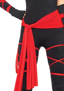 Leg-Avenue-Costumes-4Pc-Deadly-Ninja-Catsuit-Waist-Sash-Arm-Warmers-Mask-Wraps-0-2