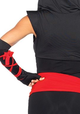 Leg-Avenue-Costumes-4Pc-Deadly-Ninja-Catsuit-Waist-Sash-Arm-Warmers-Mask-Wraps-0-3