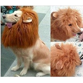 Lion-Mane-Wig-for-Dog-and-Cat-Costume-Pet-Adjustable-Washable-Comfortable-Fancy-Lion-Hair-Dog-Clothes-Dress-for-Halloween-Christmas-Easter-Festival-Party-Activity-0
