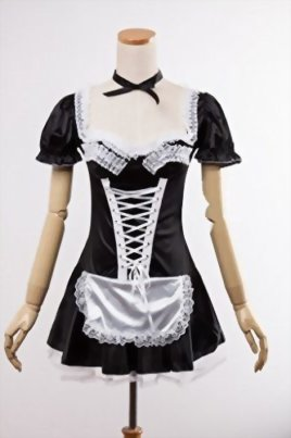 MEshop-Women-Sexy-Maid-Lingerie-Plus-Size-French-Maid-Costume-Halloween-Fancy-Dress-0-1