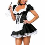 MEshop-Women-Sexy-Maid-Lingerie-Plus-Size-French-Maid-Costume-Halloween-Fancy-Dress-0