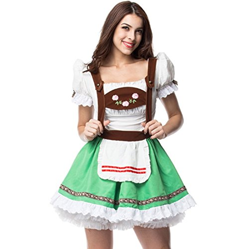 Maid Service Temptation Beer Girl Oktoberfest Costume German Wench Fancy Cosplay