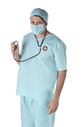 Male-Doctor-Costume-Scrub-Nurse-Costume-with-Stethoscope-Hat-and-Mask-Surgeon-Costume-for-Halloween-and-Costume-Dressup-0
