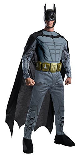 Men's Batman Arkham City Deluxe Muscle Chest Batman, Multicolor, Large