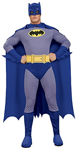 Men's Batman The Brave and The Bold Adult Batman Costume, Blue/Grey, Large