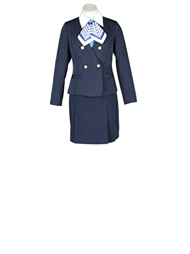 Mtxc Women's Flight Attendant Girl Culture Cosplay Airline stewardess Uniform 7th